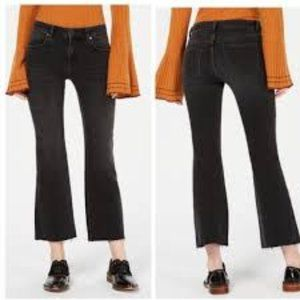 FREE PEOPLE Black High Rise Flare Cropped Jeans 26